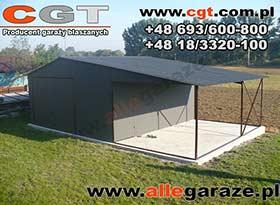 Garaż blaszany 5x5 dwuspadowy 3,5m zadaszenia brama uchylna