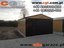 Garaż blaszany 4x6 dwuspadowy brama uchylna